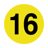 Number 16 Floor Marker | Safety-Label.co.uk