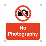 No Photography Floor Graphics Sticker | Safety-Label.co.uk