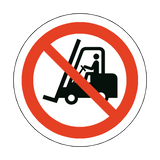No Forklift Trucks Floor Marker Sticker | Safety-Label.co.uk