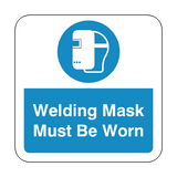 Welding Mask Must Be Worn Floor Graphics Sticker | Safety-Label.co.uk
