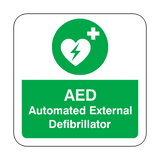 AED Defibrillator Floor Graphics Sticker | Safety-Label.co.uk
