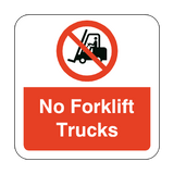 No Forklift Trucks Floor Graphics Sticker | Safety-Label.co.uk
