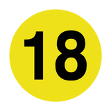 Number 18 Floor Marker | Safety-Label.co.uk