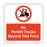 No Forklift Trucks Beyond This Point Floor Graphics Sticker | Safety-Label.co.uk