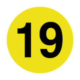 Number 19 Floor Marker | Safety-Label.co.uk