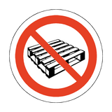 No Pallets Floor Marker Sticker | Safety-Label.co.uk