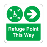 Refuge Point Arrow Right Floor Graphics Sticker | Safety-Label.co.uk