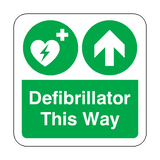 Defibrillator This Way Floor Graphics Sticker | Safety-Label.co.uk