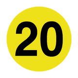 Number 20 Floor Marker | Safety-Label.co.uk