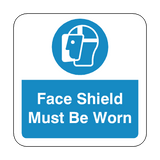 Face Shield Must Be Worn Floor Graphics Sticker | Safety-Label.co.uk
