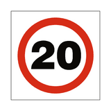 20 Mph Speed Sign - Safety-Label.co.uk