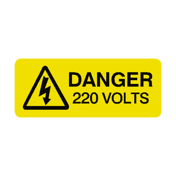 220 Volts Labels Mini | Safety-Label.co.uk