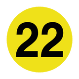Number 22 Floor Marker | Safety-Label.co.uk