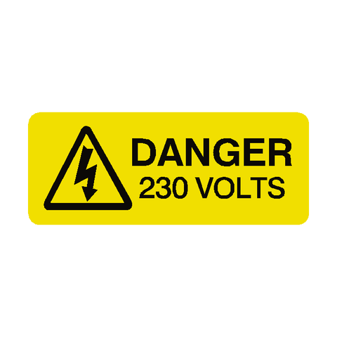 230 Volts Labels Mini - Safety-Label.co.uk