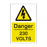230 Volts Sticker - Safety-Label.co.uk