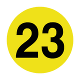 Number 23 Floor Marker | Safety-Label.co.uk