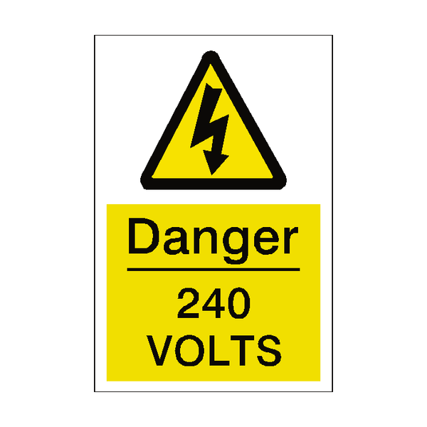240 Volts Sticker | Safety-Label.co.uk