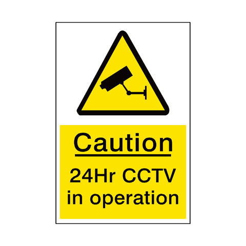 24hr Cctv Sign - Safety-Label.co.uk