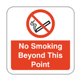 No Smoking Beyond This Point Floor Graphics Sticker | Safety-Label.co.uk