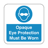 Opaque Eye Protection Must Be Worn Floor Graphics Sticker | Safety-Label.co.uk
