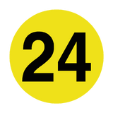 Number 24 Floor Marker | Safety-Label.co.uk