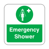Emergency Shower Floor Graphics Sticker | Safety-Label.co.uk