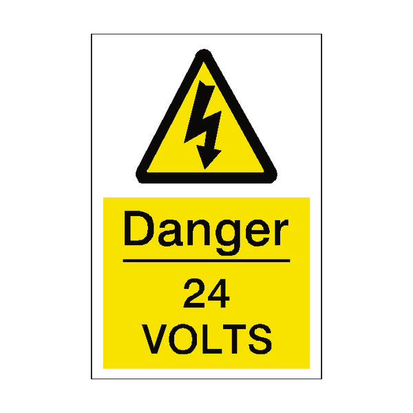 24 Volts Sticker | Safety-Label.co.uk