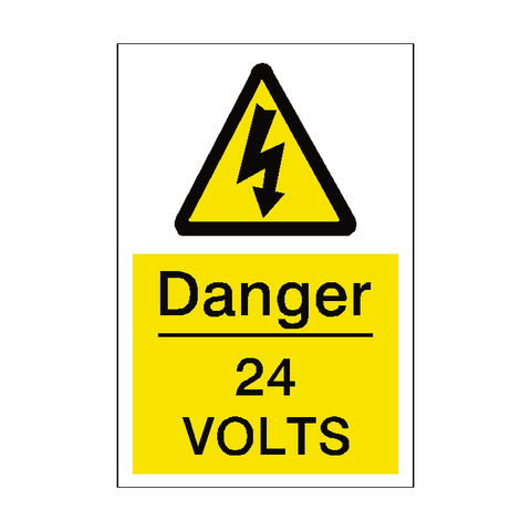 24 Volts Sticker - Safety-Label.co.uk