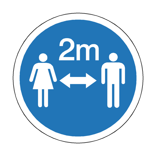 2 Metres Gap Floor Graphics | Safety-Label.co.uk