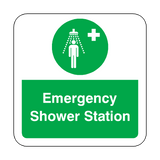Emergency Shower Station Floor Graphics Sticker | Safety-Label.co.uk