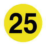 Number 25 Floor Marker | Safety-Label.co.uk