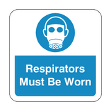 Respirators Must Be Worn Floor Graphics Sticker | Safety-Label.co.uk