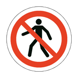 No Pedestrians Floor Marker Sticker | Safety-Label.co.uk
