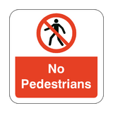 No Pedestrians Floor Graphics Sticker | Safety-Label.co.uk