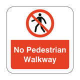 No Pedestrian Walkway Floor Graphics Sticker | Safety-Label.co.uk