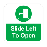 Slide Door Open To Left Floor Graphics Sticker | Safety-Label.co.uk