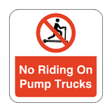 No Riding On Pump Trucks Floor Graphics Sticker | Safety-Label.co.uk