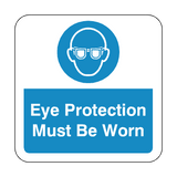 Eye Protection Must Be Worn Floor Graphics Sticker | Safety-Label.co.uk