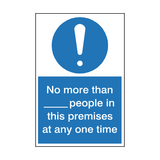 Limited Amount Of People In Premises Sign | Safety-Label.co.uk