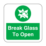 Break Glass To Open Floor Graphics Sticker | Safety-Label.co.uk