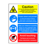 Coronavirus Instructions Retail Sticker | Safety-Label.co.uk
