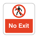 No Exit Floor Graphics Sticker | Safety-Label.co.uk