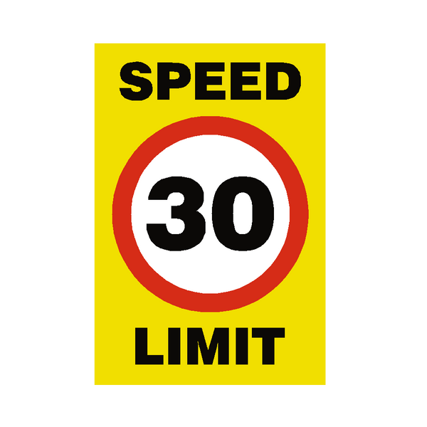 30 Mph Speed Limit Sign - Safety-Label.co.uk