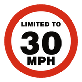 30 Mph Speed Limit Sticker | Safety-Label.co.uk