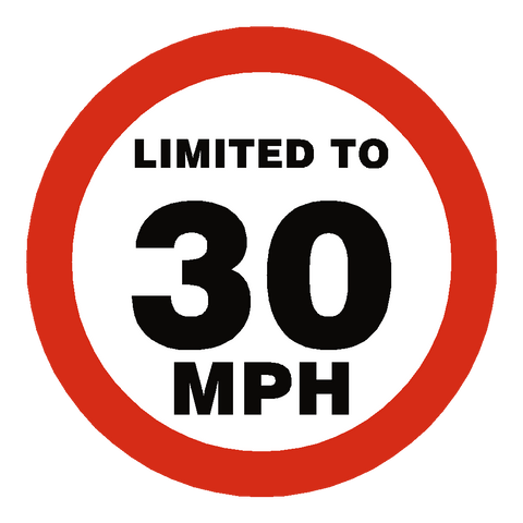 30 Mph Speed Limit Sticker - Safety-Label.co.uk