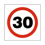 30 Mph Speed Sign | Safety-Label.co.uk
