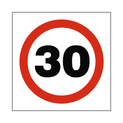 30 Mph Speed Sign - Safety-Label.co.uk