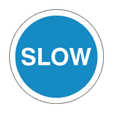SLOW Floor Marker Sticker | Safety-Label.co.uk