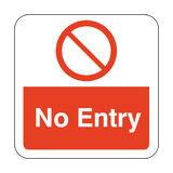 No Entry Floor Graphics Sticker | Safety-Label.co.uk