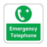 Emergency Telephone Floor Graphics Sticker | Safety-Label.co.uk